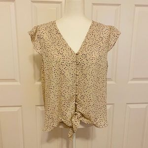 NWT Flutter Button Up Blouse XL